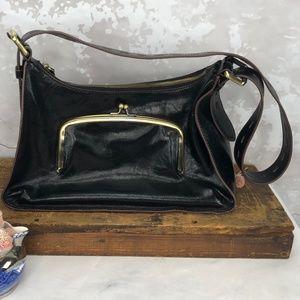 HOBO Harloh Black Leather Shoulder Bag